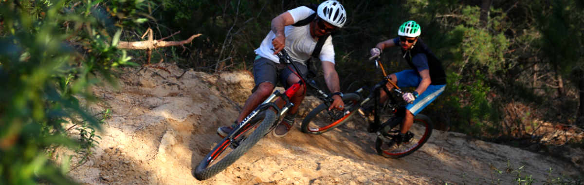 Mountain bike trails chasing Ebike